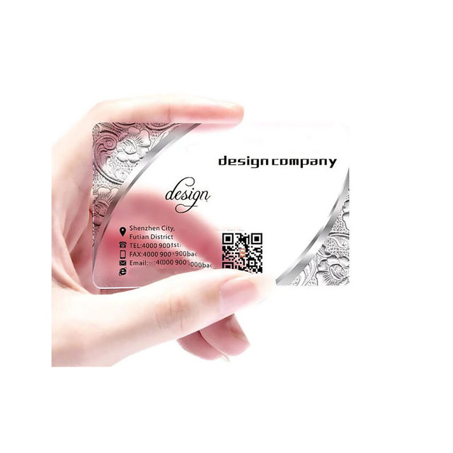 100pcsone design custom transparent business card 85.554mm matte personalised name card with your info (11)