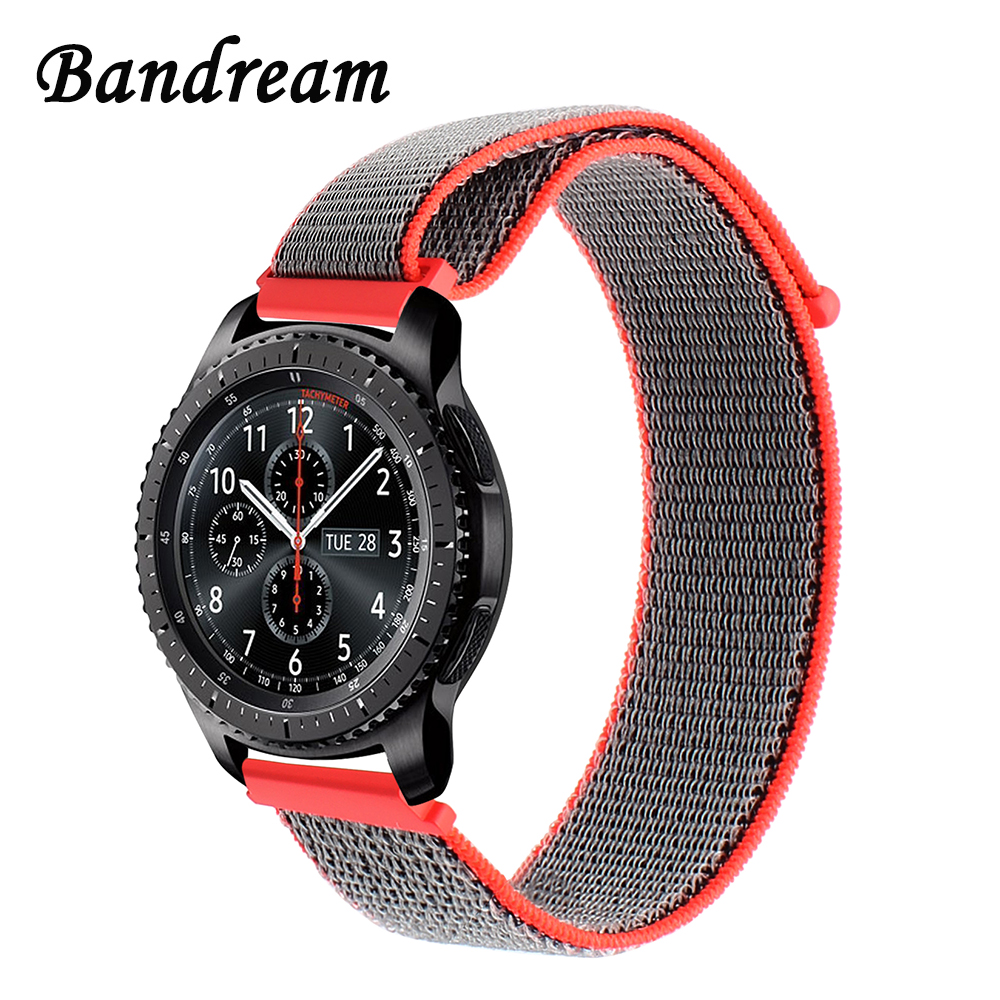 Milanese Loop Nylon Watchband 22mm for Samsung Gear S3 Classic Frontier Xiaomi Amazfit Watch Band Quick Release Strap Sport Belt france genuine leather watchband for samsung gear s3 classic frontier r760 770 double color watch band quick release wrist strap