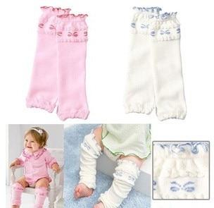 fashion bowknot knitting toddler kids knee pad flounced socks children baby girls Leg Warmers 12pair/lot mix order Free Shipping