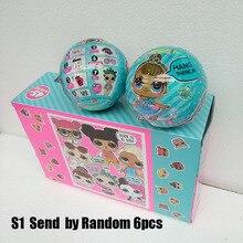 Фотография 6pcs/lot Kawaii Action Figure LOL Doll Baby Tear Open Color Change SURPRISE Eggs Vinyl Model Girl Toys For Kids