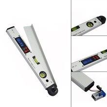 400 мм/16 дюймов 0~ 225 градусов Профессиональный инфракрасный транспортир цифровой дисплей угломер электронный лазерный спиртовой уровень