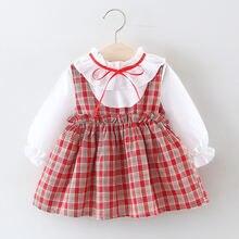 Одежда для маленьких девочек весеннее платье малышей Хлопковое