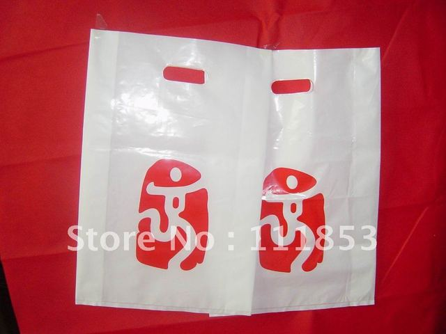 Providing custom logo printing services !Quality guaranteed die-cut shopping plastic bags. 12*20*0.014cm  Free shipping by DHL