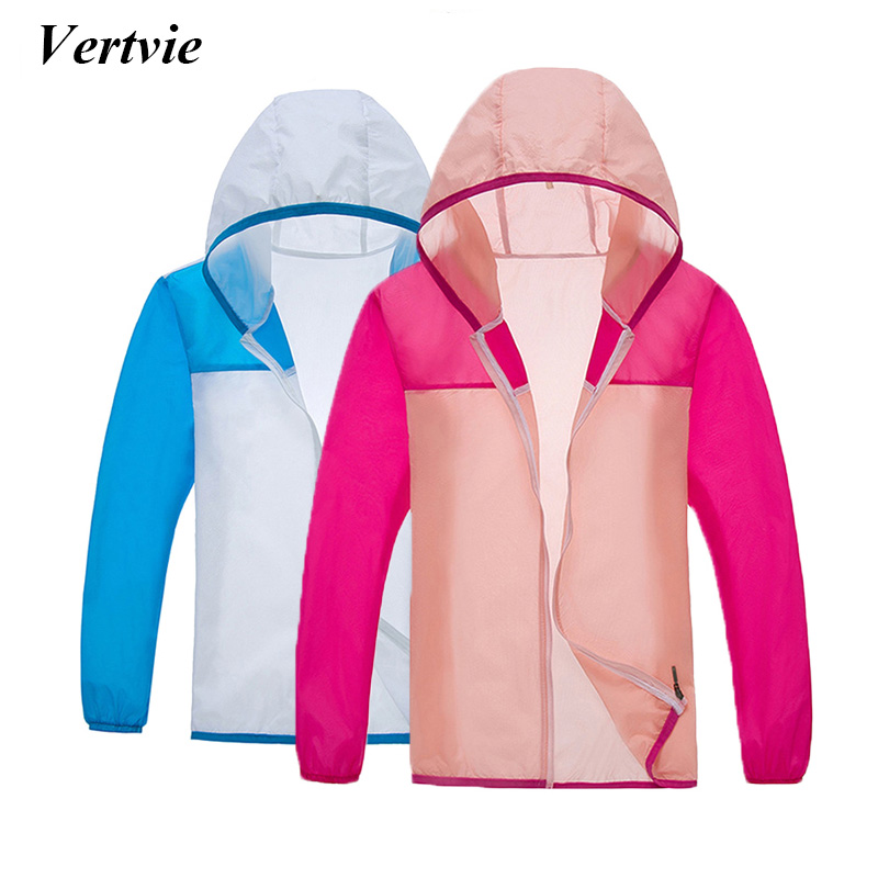 Vertvie Summer Women Running Cycling Jacket Men Windproof With Storage Pouch Breathable Quick Dry Bicycle Jacket Hooded Sports
