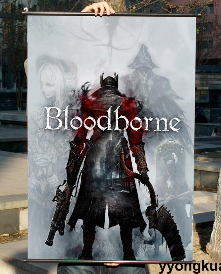 Map of Bloodborne Game Art Silk Fabric Poster Print 20x20 32x32inch