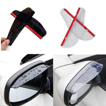Universal Car Accessories Rearview Mirror Rain eyebrow Rain Cover for Skoda Octavia A2 A5 A7 Fabia Rapid Superb Yeti Roomster