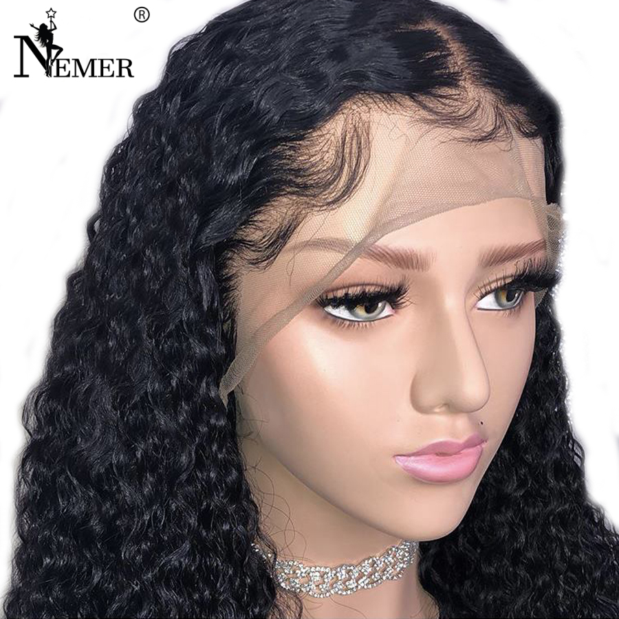 Nemer 13x6 Brazilian Lace Front Human Hair Wigs For Black