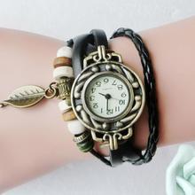 Cute Vintage Women's Wrap Bracelet Watches