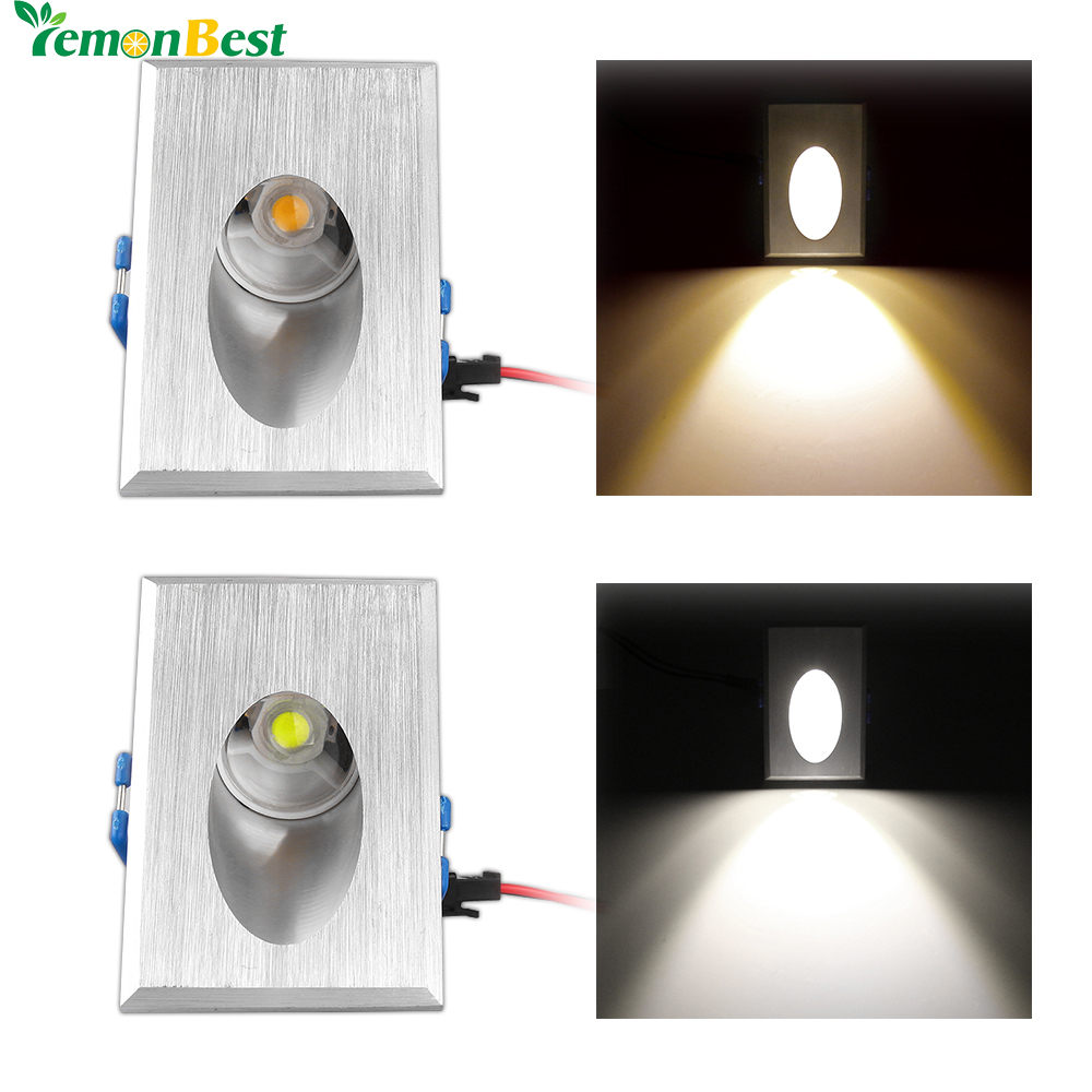 Canned Ceiling Lights Basement Stairs: LED Wall Light 3W Rectangle Recessed LED Porch Pathway