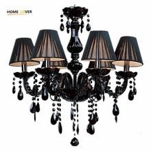 Modern crystal chandelier light fixtures ceiling lustre para quarto Black Led Crystal Chandelier For Living room Bedroom Kitchen