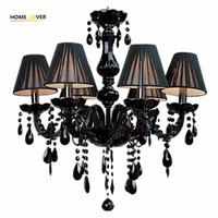 Modern Crystal Chandelier Light Fixtures Ceiling Lustre Para Quarto Black Led Crystal Chandelier For Living Room