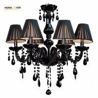 Modern Crystal Chandelier Light Fixtures Ceiling Lustre Para Quarto Black Led Crystal Chandelier For Living Room
