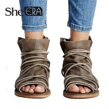 She ERA Women Gladiator Sandals Cross-tied Women Flat
