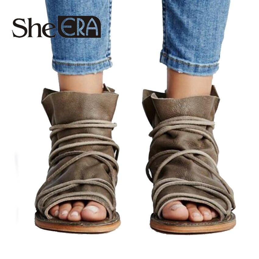 Sie Ära Frauen Gladiator Sandalen Kreuz-gebunden Frauen Flache Sandalen Kühlen Sommer Frauen Casual Schuhe Flache Ferse Sandalen Schuhe Einfach Zu Verwenden Schuhe Frauen Sandalen