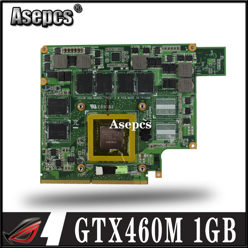 Asepcs G53JW N11-GS-A1 GTX460M 1GB <font><b>Graphics</b></font> <font><b>Card</b></font> GPU For ASUS G53JW G73SW G53SW G53SX VX7 VX7S <font><b>GTX</b></font> <font><b>460</b></font> Laptop Motherboard <font><b>Card</b></font> image