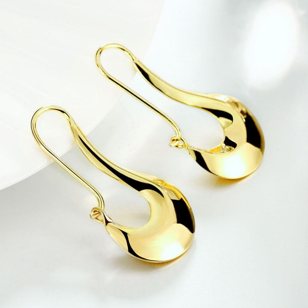 Women Luxury Gold Plating Drop Earrings for Hot Sale Trendy Fashion Jewelry Wedding Accessories
