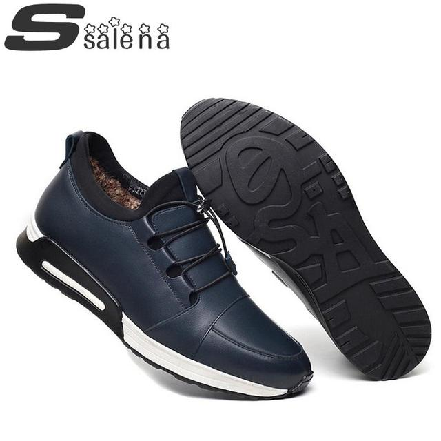 Men Winter Shoes Men Flats Super Fashion Soft Leather Outdoor Shoes 2017 New Flat With Leisure Shoes #B2454