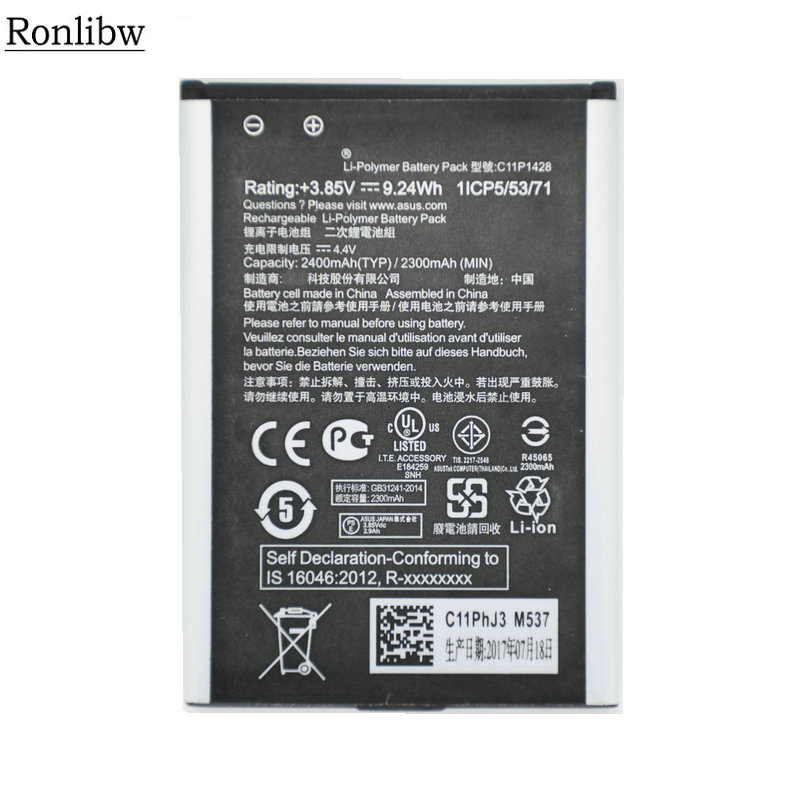 Ronlibw3.85V 2400mAh C11P1428 Phone Replacement <font><b>Battery</b></font> <font><b>for</b></font> <font><b>Asus</b></font> <font><b>Zenfone</b></font> <font><b>2</b></font> <font><b>Laser</b></font> <font><b>ZE500KL</b></font> ZE500KG <font><b>battery</b></font> image