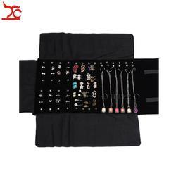 كبير بيع المصنع مباشرة بيع متعددة الوظائف المخملية مجوهرات عرض قلادة حلقة القرط حقيبة للتخزين محفظة مجوهرات حقيبة