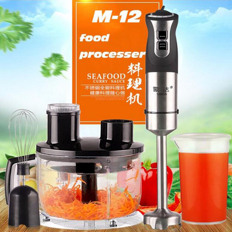 Electric Food Blender Stainless Steel Meat Grinder Fruit Milk Shake Mixer M-12 Multi-Function Food Processor пуховик женский clasna цвет оранжевый cw17d 055cw размер s 42
