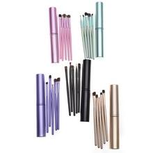 5pcs/ Set Beauty Makeup Cosmetics Eye Shadow Eyeliner Brush Applicator BeautyTool High Quality Foundation Brushes with Metal Box