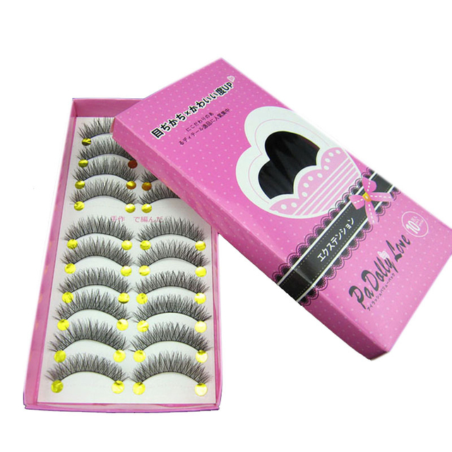 10 Pair Handmade Natural Long False Eyelashes