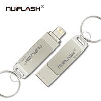 Memoria USB OTG 3,0 para iphone, pendrive de 128GB, 64GB, 32GB, 16GB, para iphone/ipad/Mac