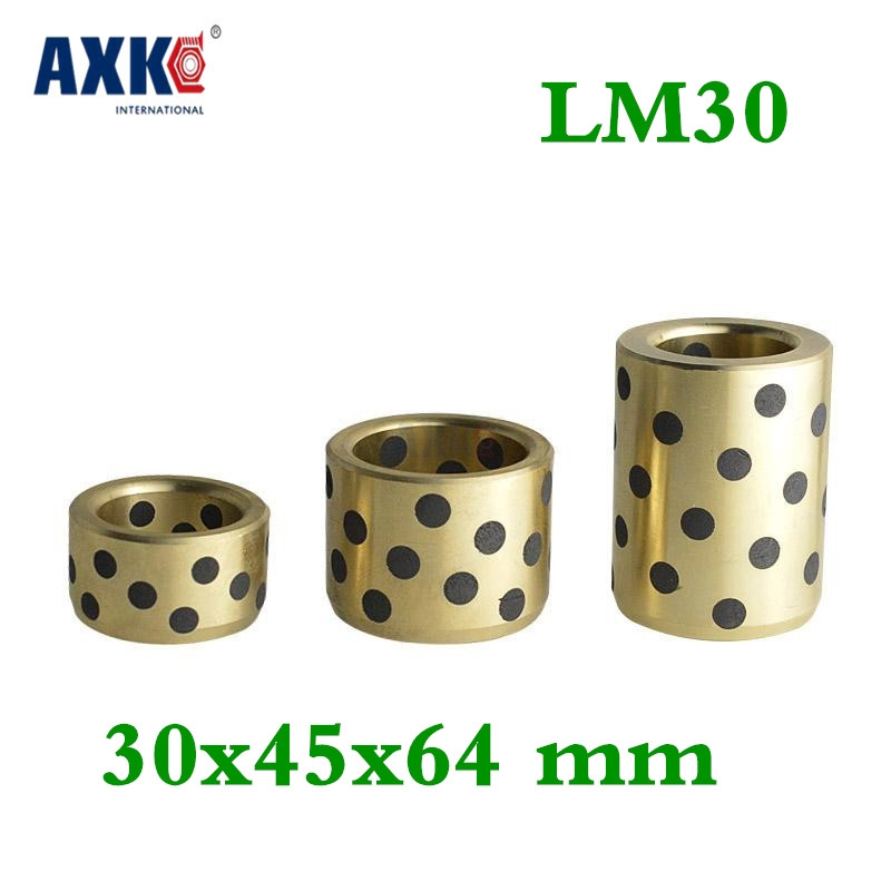 4pcs 30x45x64 Mm Linear Graphite Copper Set Bearing Copper Bushing Oil Self-lubricating Bearing Jdb Free Shipping Lm30uu Lm30 jdb 406080 copper sleeve the same size of lm12 linear solid inlay graphite self lubricating bearing