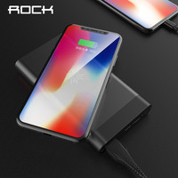 ROCK QI Wireless Charger Power Bank 10000mah Portable External Battery Charger Powerbank For iphone Samsung Xiaomi