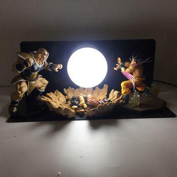 Nowy Dragon Ball Trzy-osoba Model Bomby Kostium Led Night Light Wakacje Prezent Pokoju Dekoracyjne Lampy Led W UE US Wtyczka