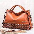 Nueva Llegada de la manera de las señoras de LA PU de cuero bolsa cara de la sonrisa, marca de fábrica grande de LA PU de cuero bolsos de las mujeres, hombro de la señora, bolso de la vendimia