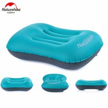 Naturehike Outdoor Inflatable Pillow Sleeping Gear Travel Aeros Pillow Inflatable Cushion Soft Neck Protective HeadRest freeship