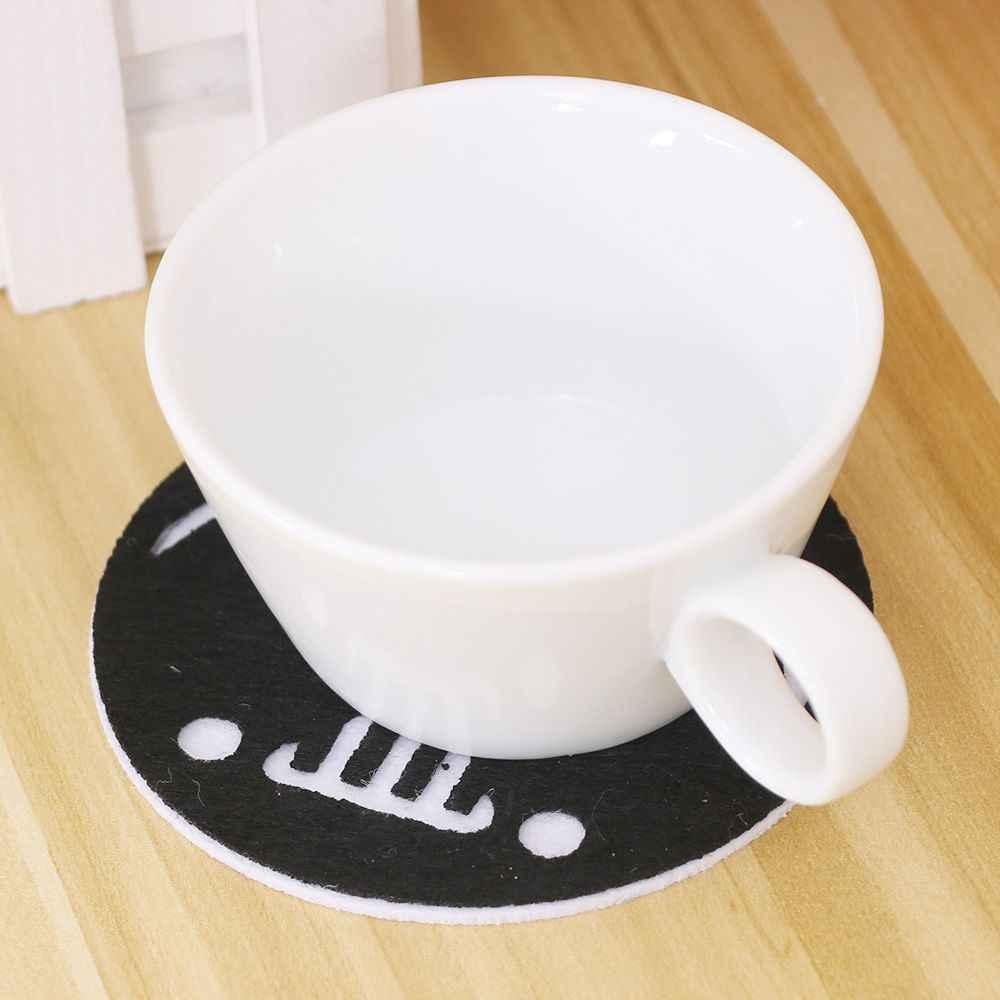 أنيم الكرتون نمط كوب المشروبات حامل القهوة حصيرة مصنوعة من اللباد تحديد الموقع منصات جولة الجدول الديكور و الاكسسوارات الحصير والوسادات