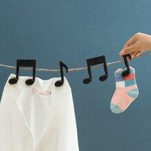 Новые креативные музыкальные зажимы для нот, прищепки для одежды, прищепки для одежды, прищепки для хранения пищевых продуктов, прищепки для одежды, вешалки для одежды