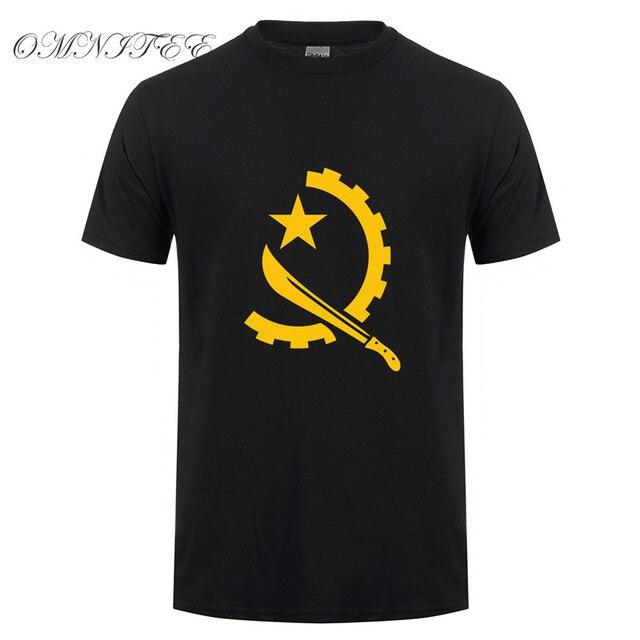 e6c49e03 Men Tees Angola T-shirt Funny Africa Country T Shirts O-neck Short Sleeve  Cotton Angola Men T-shirt OT-664