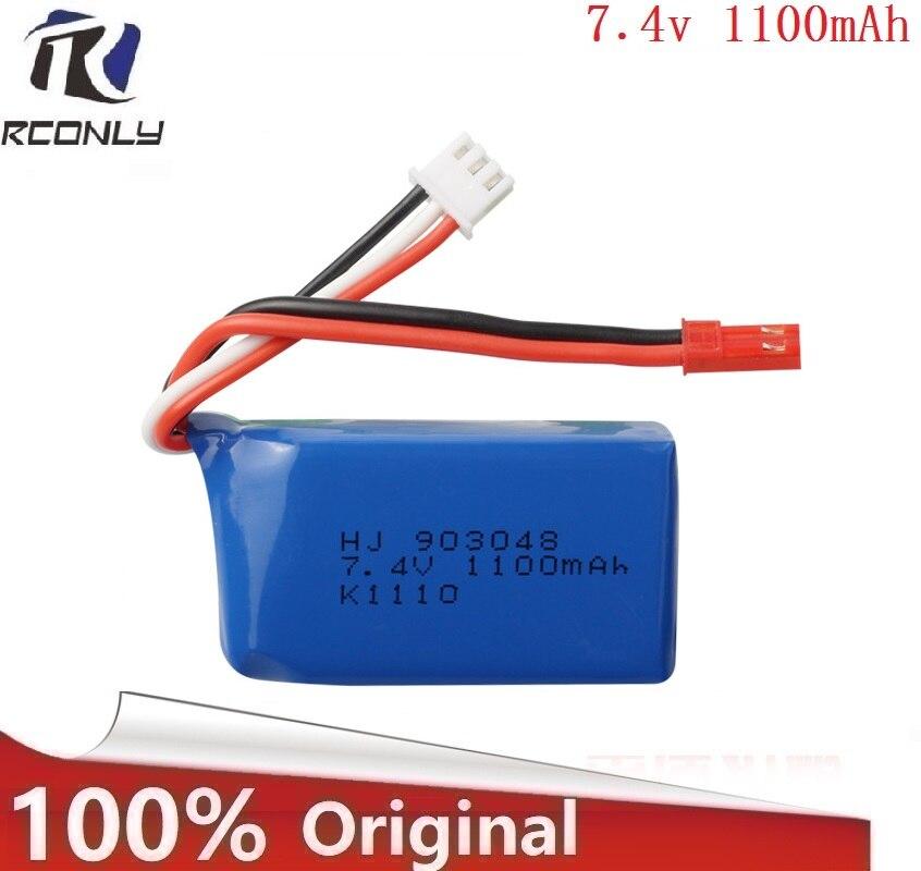 Brand RCONLY Original Wltoys A949 A959 A979 K929 1/18 Rc Car Battery 7.4V 1100mah A949 27 Part for Wltoys RC Car Part