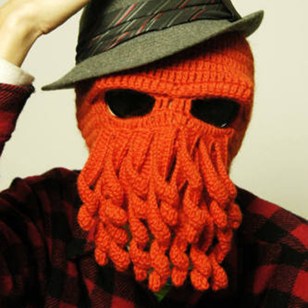 Fashion Unisex Women Men Winter Warm Knit Crochet Beard Beanie Mustache Face Mask Ski Squid Cap Warmer Hat 2017 New Arrival memory tizyan коврик для ванной 60x100 см 1012078