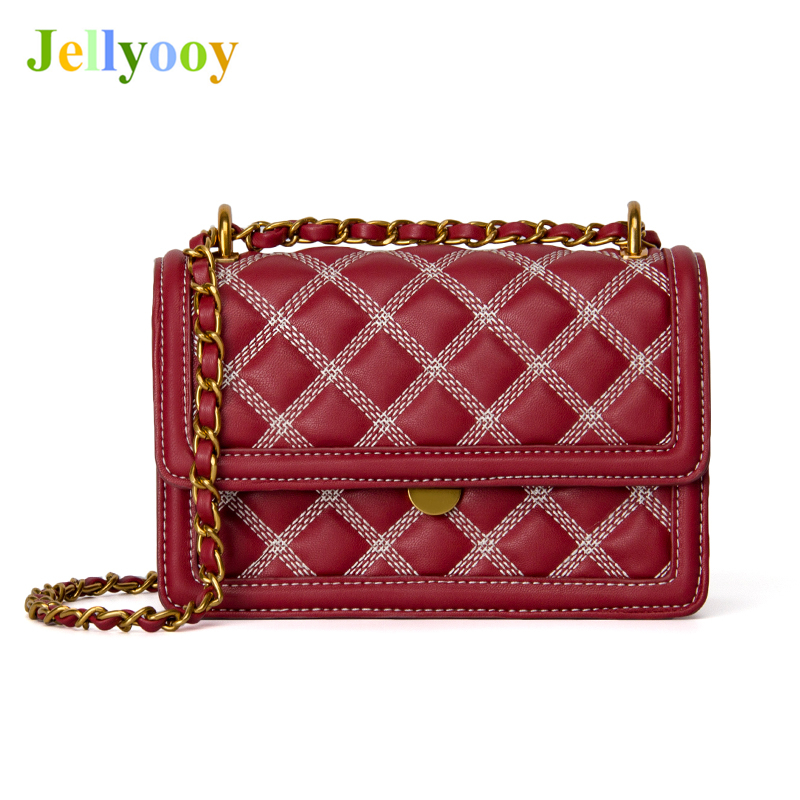 Luxury Brand Women Shoulder Bags Leather Women Handbags Plaid Crossbody Bags Diamond Lattice Casual Women Red Tote Bags Channels цена
