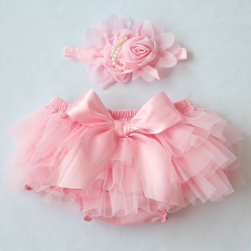 Baby Cotton Chiffon Ruffle Bloomers cute Baby Diaper Cover Newborn Flower Shorts Toddler fashion Summer Clothing Free Headband