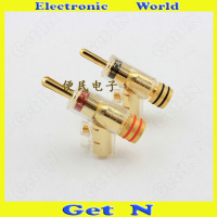 2pcs 20pcs MCA Swiss Brass Banana Connectors Jack Free Welding Lockable Gun Type Audio Speaker Cable Banana Plug Socket