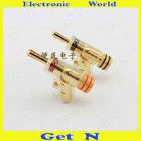 2pcs 20pcs MCA Swiss Brass Banana Connectors Jack Free Welding Lockable Gun Type Audio Speaker Cable Banana Plug Socket