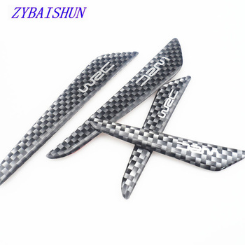 4pcs Car Door Anti-scratch Buffer Strips Carbon Fiber Protector for Subaru Forester Outback Legacy Impreza image