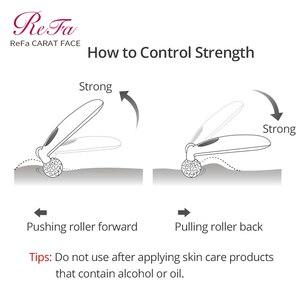 Image 3 - ReFa KARAT GESICHT Walze Massager Micro strom Kneten Massage Bewegung Behandlung Platin Überzug Wasserdicht Gesicht Heben