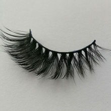 New 1 pair 100% Real Mink lashes Soft Long Thick Makeup Eyelash Black False Eye lashes wholesale