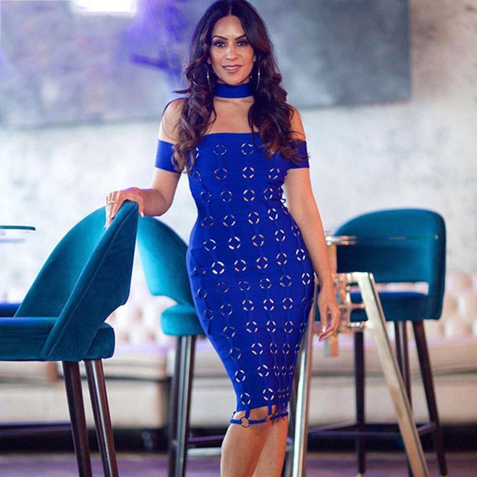 Seamyla 2019 New Sequined Dress Women Sexy Blue Black Bandage Dresses Bodycon Vestidos Off The Shoulder