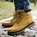 Moda 2017 Novos Homens Botas de Tornozelo Rendas Até Botas Martin Homens Botas De Conforto Casual Masculino Ao Ar Livre Sapatos