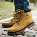 Moda 2017 Nuevos Hombres Botines Con Cordones de Los Hombres Botas de Martin Botas de Confort Casual Masculina Al Aire Libre Zapatos
