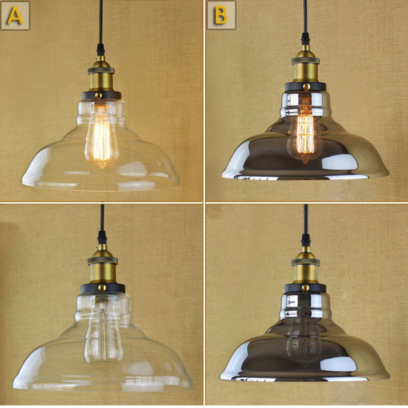 Modern Amorous Feeling Industrial Vintage Glass Restaurant Pendant Light Cafe Bar Living Room Decoration Lamp Free Shipping