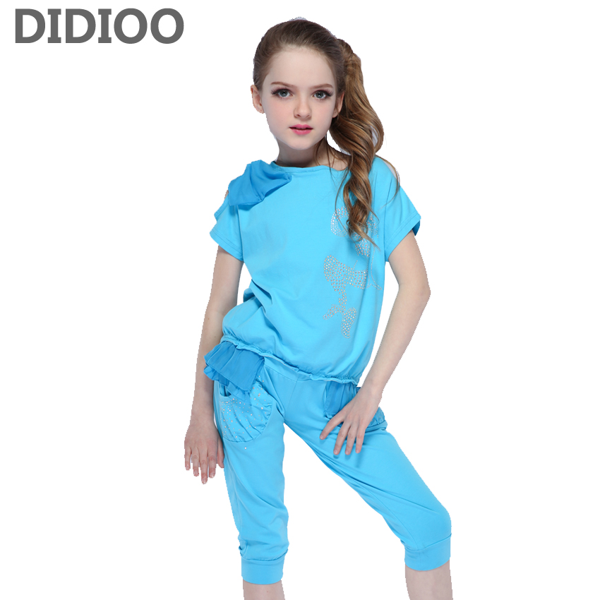 Kids Clothing Sets For Girls Sports Suits Chiffon T-Shirts & Shorts Summer Children Outfits 4 6 8 9 10 Years School Clothes baby clothes for boys girls t shirt shorts suits clothing sets summer for the school kids children s clothing for boys 3 4 years