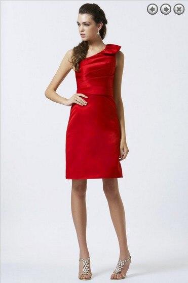 Vestido de cena del envío libre 2016 nueva moda partido prom vestido una  manga criada de las novias Vestido corto rojo rubor Vestidos de dama de  honor 7dc4e3ca44f5